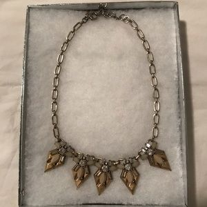 J.Crew Gold/Crystal Necklace